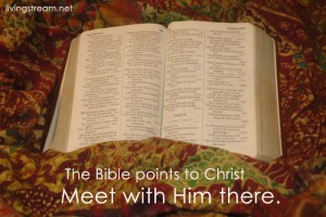 Don't just read about Him – meet with Him there and receive His Life.