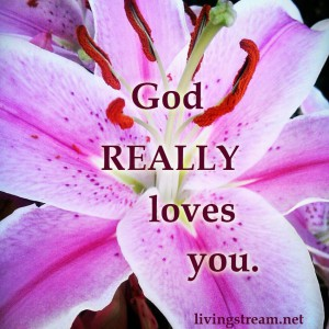 God Loves you SO much. Words can't express it fully, but His actions can: Jesus' perfect life given up for you and me. Nothing can compare to that love expressed, not all the beauty of all creation.