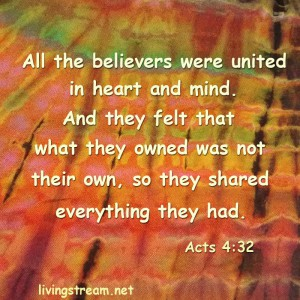 What if we all shared? Our faith would be built up and we would begin to look more and more like JESUS. And the world would SEE IT.