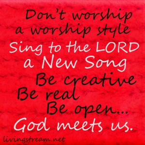 Sing to the LORD a new song.